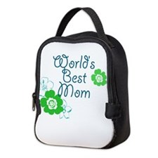 Worlds Best Mom Neoprene Lunch Bag