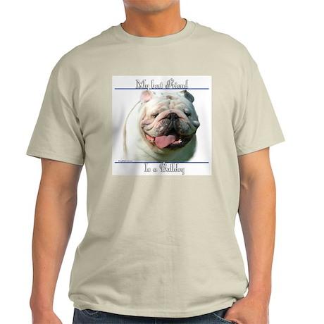 Bulldog Best Friend2 Ash Grey T-Shirt