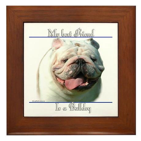 Bulldog Best Friend2 Framed Tile