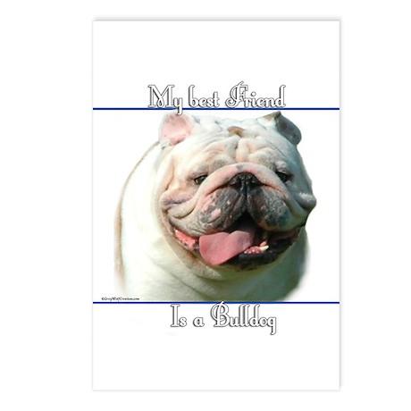 Bulldog Best Friend2 Postcards (Package of 8)