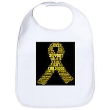 Cute Childhood cancer awareness Bib