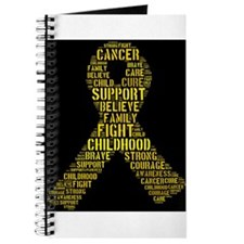 Cute Childhood cancer awareness Journal