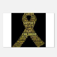 Cute Childhood cancer awareness Postcards (Package of 8)