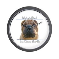 Shar-Pei Best Friend2 Wall Clock