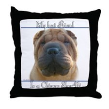 Shar-Pei Best Friend2 Throw Pillow