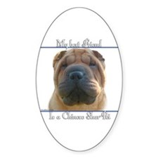 Shar-Pei Best Friend2 Oval Decal