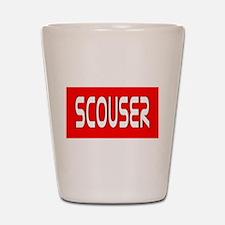 Scouser White/Red Shot Glass