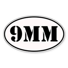 9mm Oval Design Decal