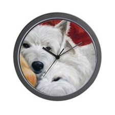 The Art of Snuggling Wall Clock