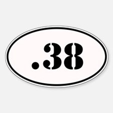 .38 Special Oval Design Decal