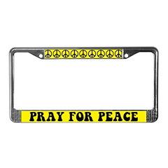 Pray for Peace License Plate Frame