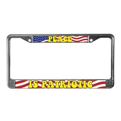 Peace is Patriotic License Plate Frame