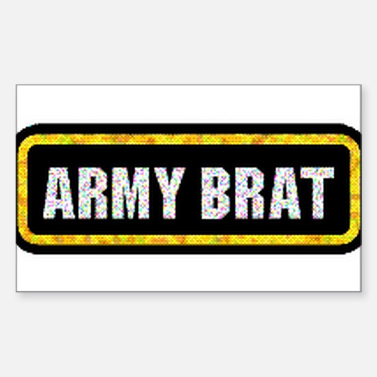 Army Brat Rectangle Decal