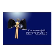 Blue Clothespin Angel Postcards (Package of 8)