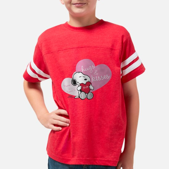 Snoopy Hugs and Kisses - Pers Youth Football Shirt