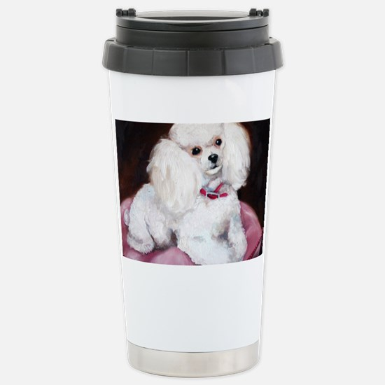 pretty on pink Stainless Steel Travel Mug