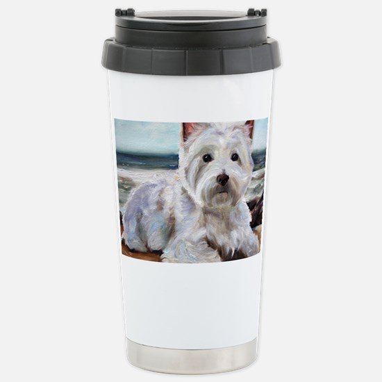 King of the Beach Stainless Steel Travel Mug