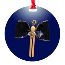 Blue Clothespin Angel Ornament