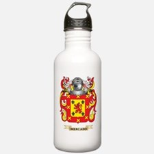 Mercado Coat of Arms - Family Crest Water Bottle