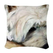 Dog Tired Woven Throw Pillow