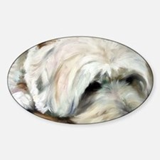 Dog Tired Sticker (Oval)