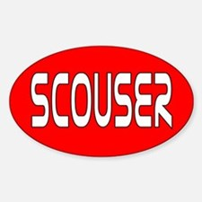 Scouser White/Red Decal