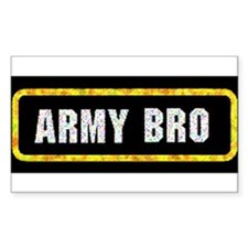 Army Bro Rectangle Decal