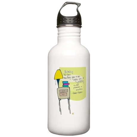 Books Before Bed Water Bottle