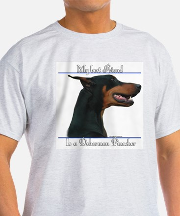 Dobie Best Friend2 Ash Grey T-Shirt