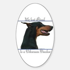Dobie Best Friend2 Oval Decal