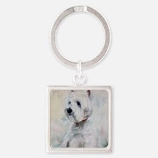 Watch Dog Square Keychain