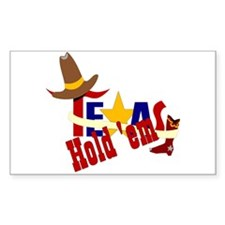 Texas Hold 'Em Rectangle Decal