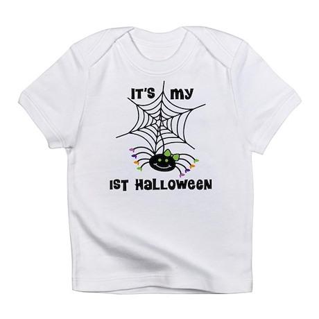 Babys 1st Halloween spider Infant T-Shirt