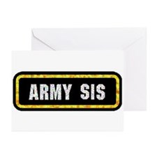 Army Sis Greeting Cards (Pk of 10)