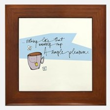 Morning Perk Framed Tile