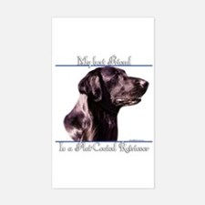 Flat Coat Best Friend2 Rectangle Decal