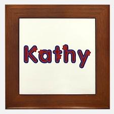 Kathy Red Caps Framed Tile