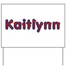 Kaitlynn Red Caps Yard Sign