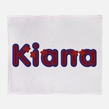Kiana Red Caps Throw Blanket