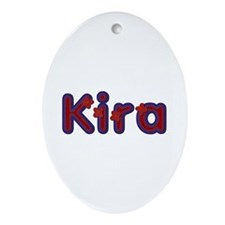 Kira Red Caps Oval Ornament