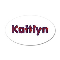 Kaitlyn Red Caps Wall Decal