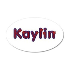 Kaylin Red Caps 20x12 Oval Wall Decal