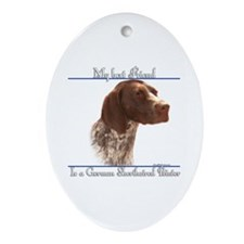 Shorthair Best Friend2 Oval Ornament
