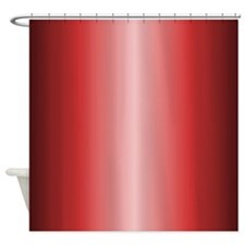 Red Metallic Shiny-Look Shower Curtain