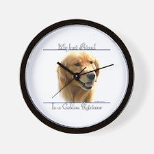 Golden Best Friend2 Wall Clock