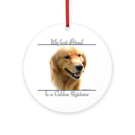 Golden Best Friend2 Ornament (Round)