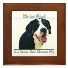 Swissy Best Friend2 Framed Tile