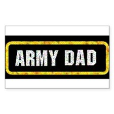 Army Dad Rectangle Decal