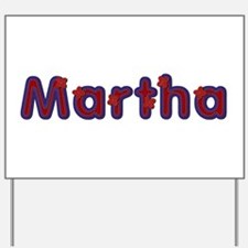 Martha Red Caps Yard Sign