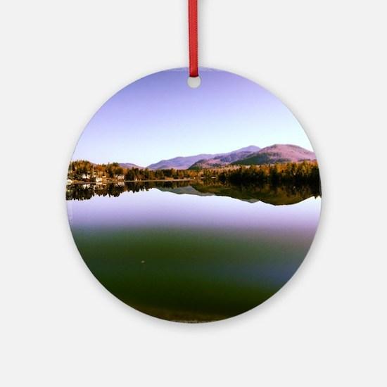 Mirror Lake Round Ornament